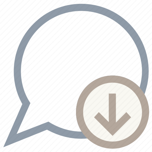 chat balloon, chat bubble, downloading chat, speech balloon, speech bubble icon