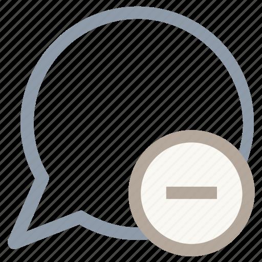 cancel message, delete message, discard message, remove message, remove text icon