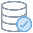 checkmark, database, database verified, server, server checked icon