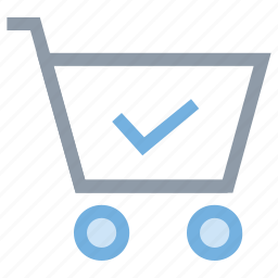 buy confirmed, commerce, shopping checkout, shopping done, shopping verified icon