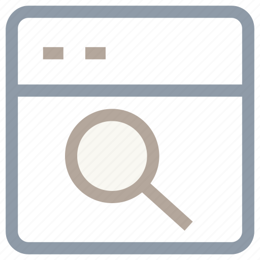 browser, magnifier, magnifying lens, search engine, web search icon