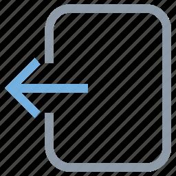 arrow, entering, left arrow, login, multimedia option icon