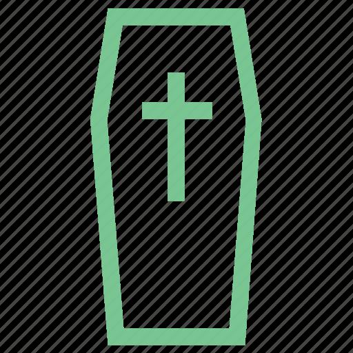 casket, coffin, funeral coffin, graveyard, sarcophagus icon
