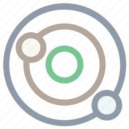 orbit, planet, solar system, space, universe icon