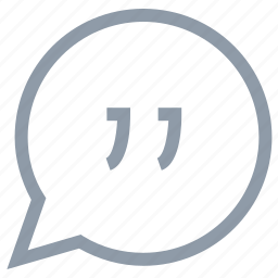 citation, comment, quoting, remark, speech bubble icon