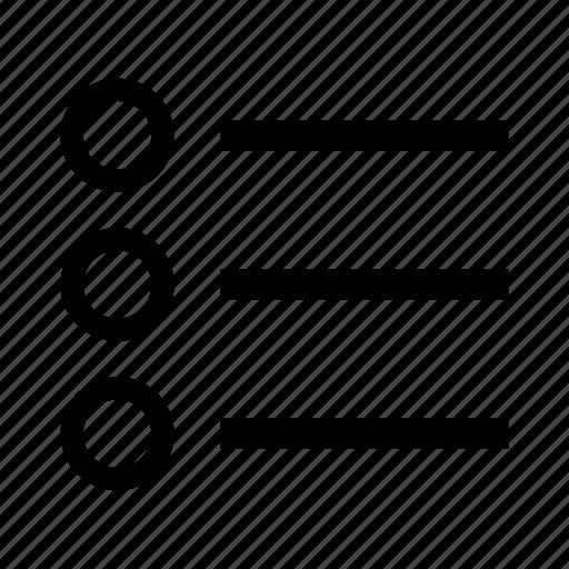 list, menu, option icon