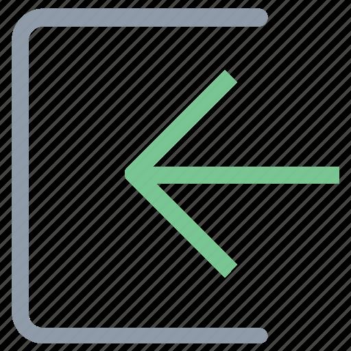 arrow, exit, logout, multimedia option, right arrow icon