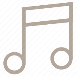 eighth note, music, music node, music note, quaver icon