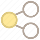 connection, network, share, sharing, social network icon
