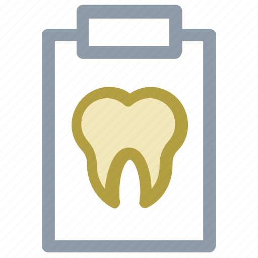 clipboard, dental health, dental report, medical report, patient report icon