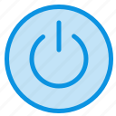 interface, on, power, ui, user icon