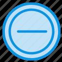interface, minus, user icon