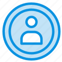 interface, navigation, user icon