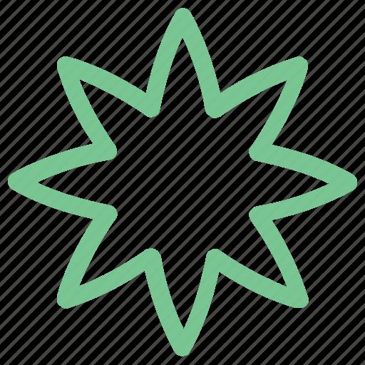 commerical sticker, decorative flower, flower, star, sticker icon