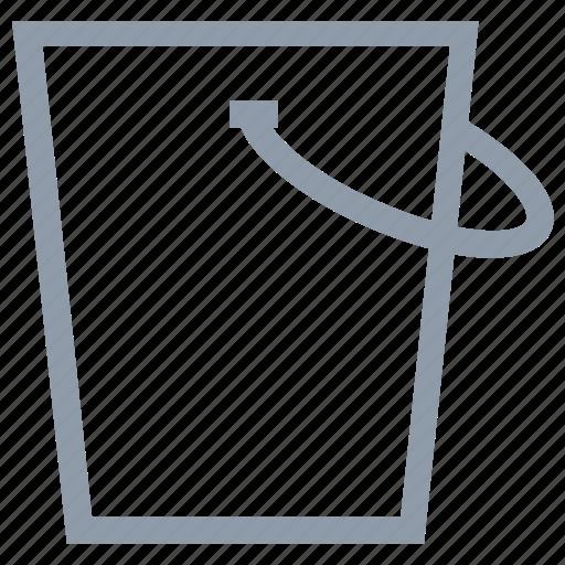 bucket, pail, paint bucket, water, water bucket icon
