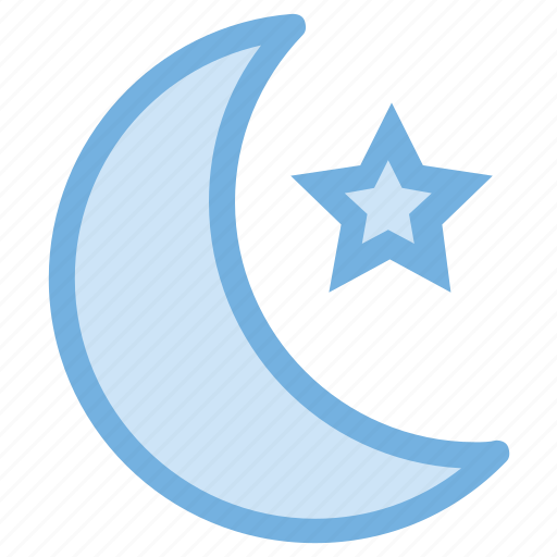 moon, night, night time, star, weather icon