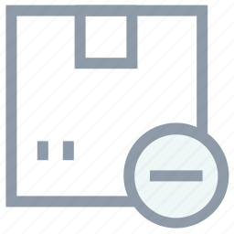cardboard box, delivery box, parcel, remove box, remove package icon