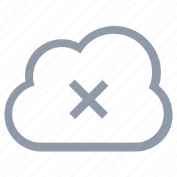 cloud delete, cloud disconnectivity, disconnected network, icloud, icloud cancel icon