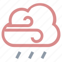 cloud, meteorology, raining, rainstorm, weather icon