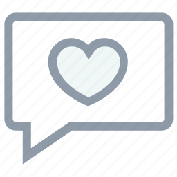 chat bubble, chat sign, chatting, heart sign, love theme icon