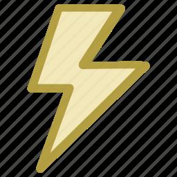 flash sign, lightning, powerful lightning, thunder, thunderbolt icon