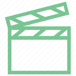 clapboard, clapper, clapperboard, multimedia, shooting clapper icon