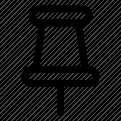 noticeboard pin, pin, push pin, stationery, thumbtack icon