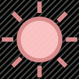 shining sun, summer, sun, sun beams, sunlight, sunny day, sunrays, sunshine icon
