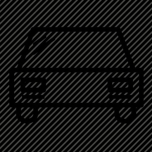 automobile, car, rear, service, transport, transportation, vehicle icon