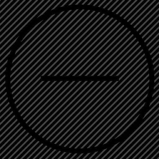 cancel, less, minimize, minus, negative, remove, subtract icon
