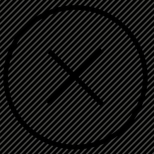 cancel, close, cross, delete, multiply, remove, trash icon