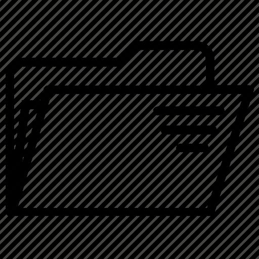 archive, document, extension, file folder, format, open, organize icon