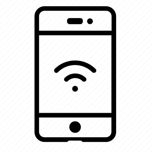 cellphone, connectivity, mobile, network, smartphone, technology, wifi icon