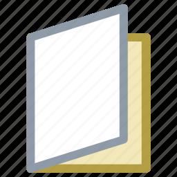 book, carte du jour, menu, menu card, study icon