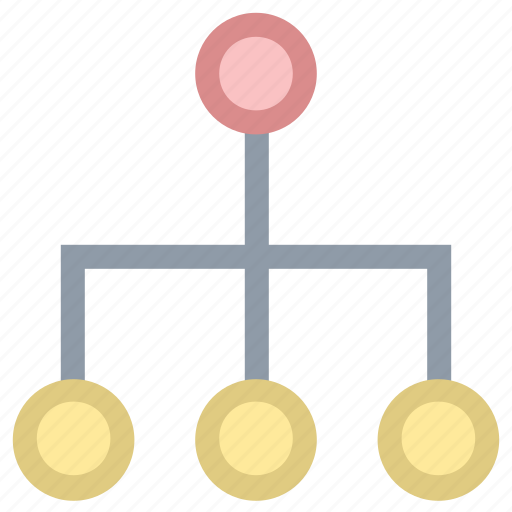 computer network, hierarchy structure, link, network hierarchy, network topology icon