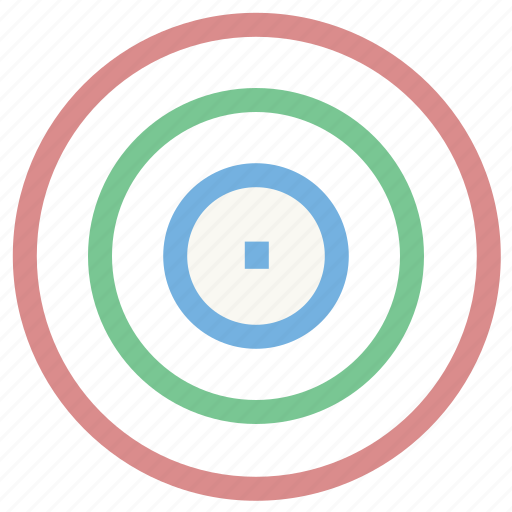 bullseye, dartboard, focus, goal, target icon