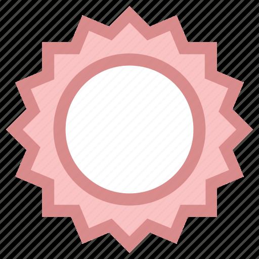 circular flower, creative design, flower circle, flower shape, sunflower shape icon