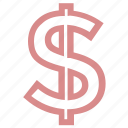 currency symbol, dollar, dollar sign, money symbol, wealth icon
