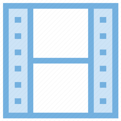 cinema, film reel, film strip, photography, polaroid frame icon