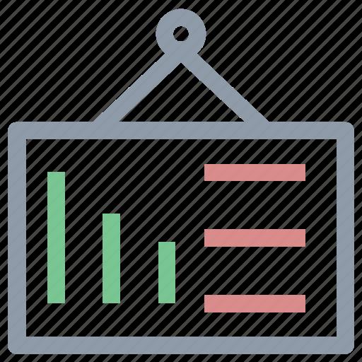 analysis analytics, business presentation, diagram, financial element, hanging chart icon