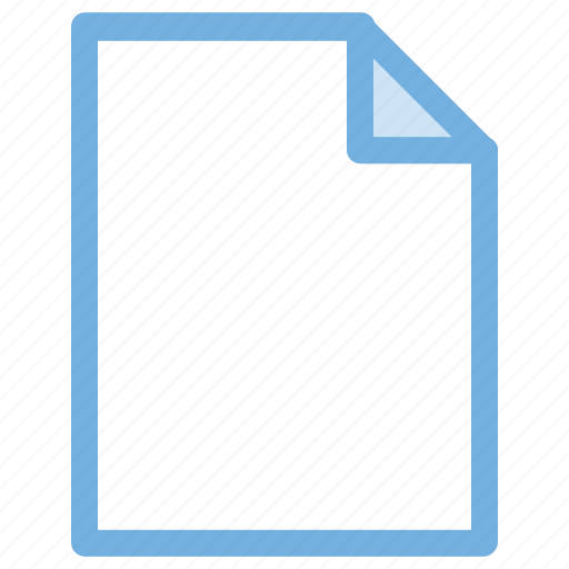 blank file, blank paper, file, paper, sheet, webelement icon