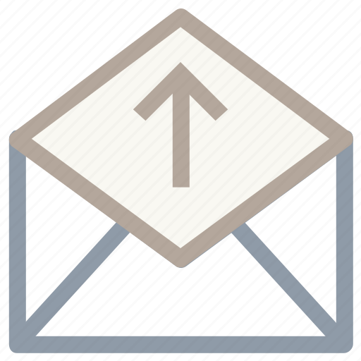 envelope, mail, open mail, sent mail, sent message icon