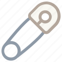 closed pin, pin, safety pin, safety tool, tool icon