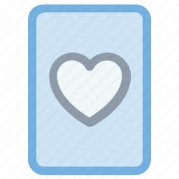 ace of heart, entertainment, heart card, playing card, suit card icon