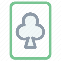 ace of club, casino, gambling, play card, playing card, poker card icon