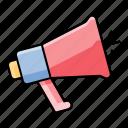 announcement, loudspeaker, marketing, megaphone, ui