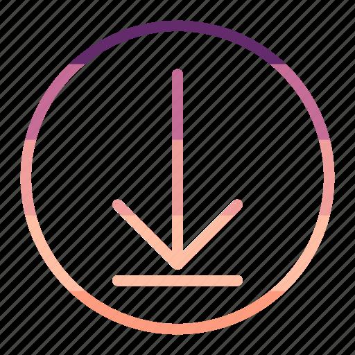 arrow, data, download, storage icon