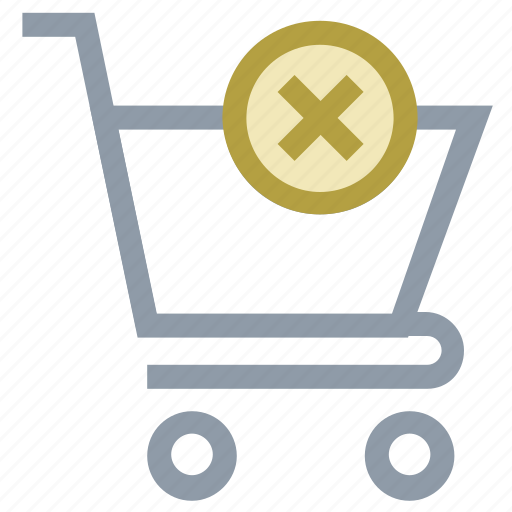 delete from cart, ecommerce, online shopping, shopping cart, supermarket icon