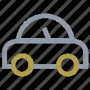 cartoon car, german motor car, motor, old model car, volkswagen beetle icon