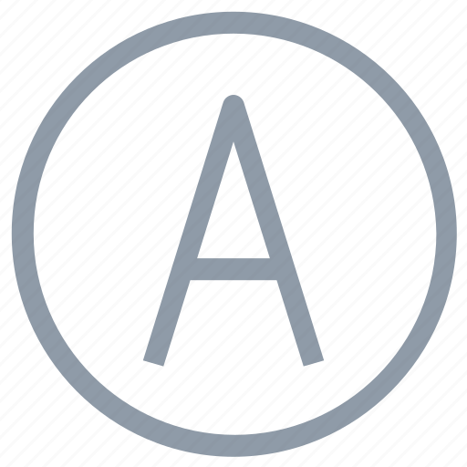 a, alphabet a, capital letter, english letter icon
